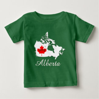 Alberta Customize  Canada Province green Baby T-Shirt