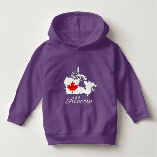 Alberta Customize  Canada Province purple Hoodie