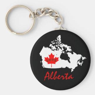 Alberta Customize Love Canada province Basic Round Button Key Ring