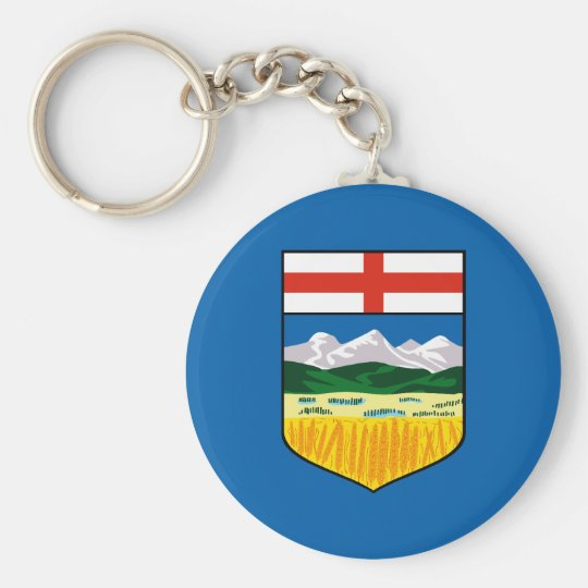Alberta flag key ring