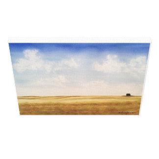 Alberta, - watercolor, wrapped canvas print
