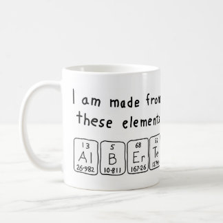 Alberte periodic table name mug