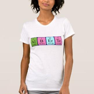 Alberte periodic table name shirt