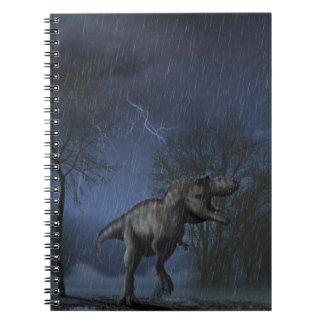 Albertosaurus night scene notebook