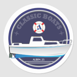 Albin 25 - glossy round stickers