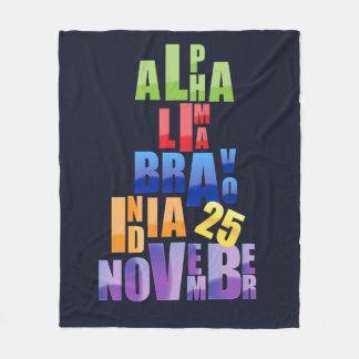 Albin 25 Phonetic Alphabet Fleece Blanket