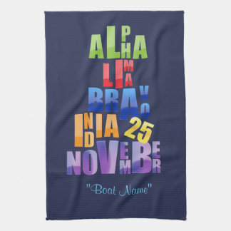 Albin 25 Phonetic Alphabet Tea Towel