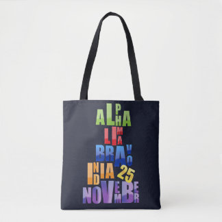 Albin 25 Phonetic Alphabet Tote Bag