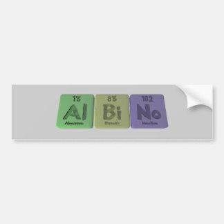 Albino-Al-Bi-No-Aluminium-Bismuth-Nobelium Bumper Stickers