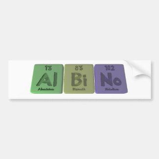Albino-Al-Bi-No-Aluminium-Bismuth-Nobelium Car Bumper Sticker