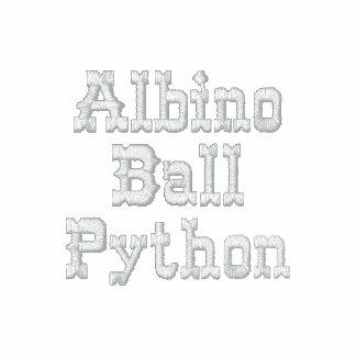 Albino Ball Python AA Fleece Zip Jogger Jacket