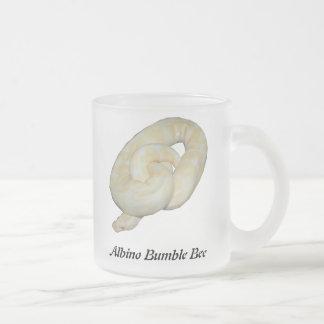 Albino Bumble Bee Frosted Glass Coffee Mug