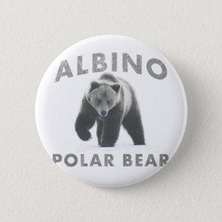 albino polar bear 6 cm round badge