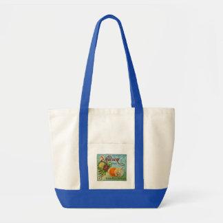 Albion Oranges Fruit Crate Label Canvas Bag