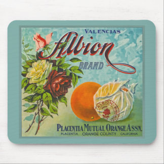 Albion Oranges Fruit Crate Label Mouse Pads