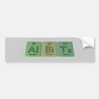 Albite-Al-Bi-Te-Aluminium-Bismuth-Tellurium Bumper Sticker