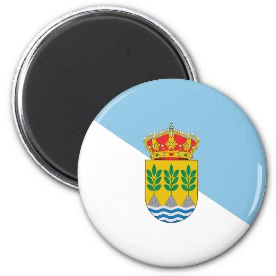 Albox Spain, Spain flag 6 Cm Round Magnet