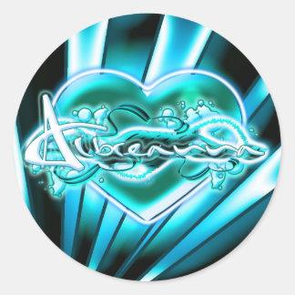 Albreanna Round Sticker