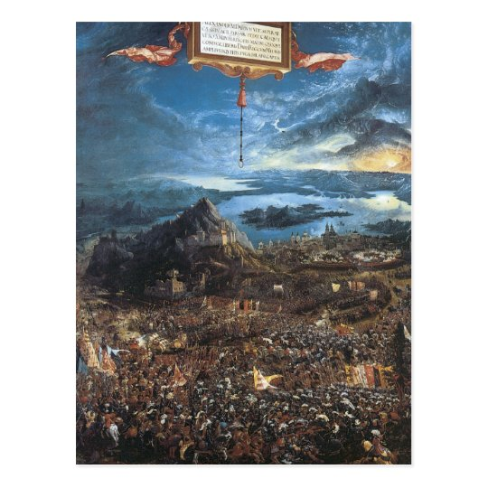 Albrecht Altdorfer The Battle of Alexander Postcard