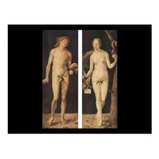 Albrecht Durer Adam And Eve Postcard