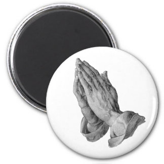 Albrecht Durer - Hands Praying 6 Cm Round Magnet