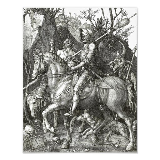 """Albrecht Durer """"Knight Death and the Devil"""" Gothic Photograph"""