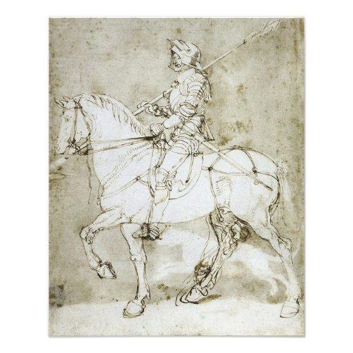 "Albrecht Durer ""Knight on Horseback"" Gothic Print Photograph"