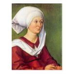 Albrecht Durer - Portrait of Barbara Durer born Ho Postcards