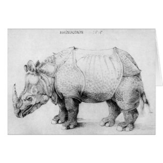 Albrecht Durer Rhinoceros Card