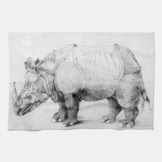 Albrecht Durer Rhinoceros Kitchen Towel