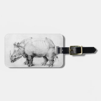 Albrecht Durer Rhinoceros Luggage Tag