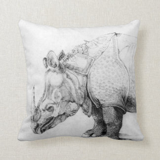 Albrecht Durer Rhinoceros Throw Pillow