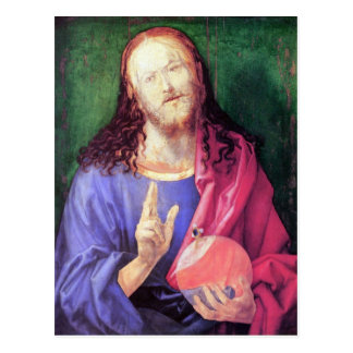 Albrecht Durer - Salvator Mundi Postcard