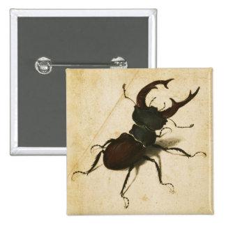 Albrecht Durer Stag Beetle Renaissance Vintage Art 15 Cm Square Badge