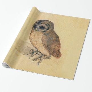 Albrecht Durer The Little Owl Vintage Fine Art Wrapping Paper