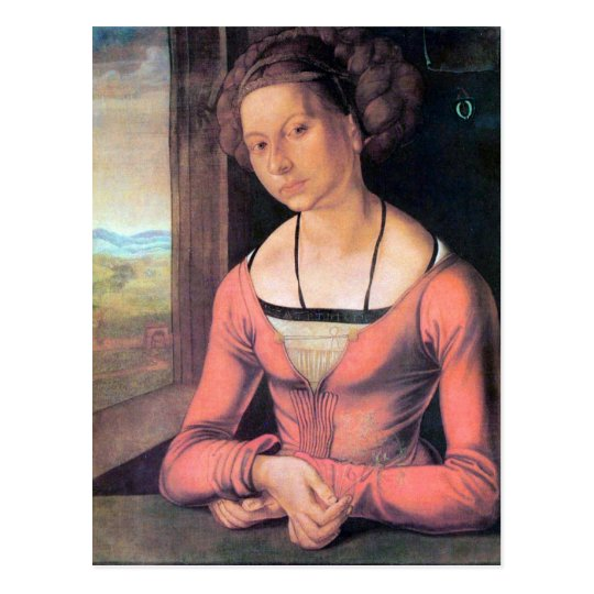 Albrecht Durer - Woman with braided hair Postcard