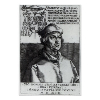 Albrecht of Brandenburg, 1519 Poster