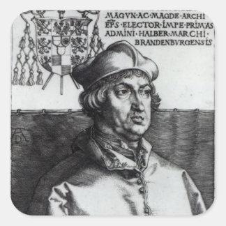 Albrecht of Brandenburg, 1519 Square Sticker