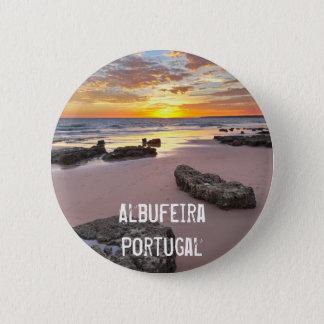 Albufeira - Portugal. Summer vacations in Algarve 6 Cm Round Badge