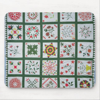 Album quilt with season flowers, 1844 mouse mat