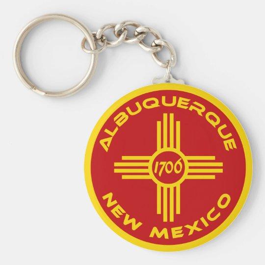 Albuquerque New Mexico Basic Round Button Key Ring