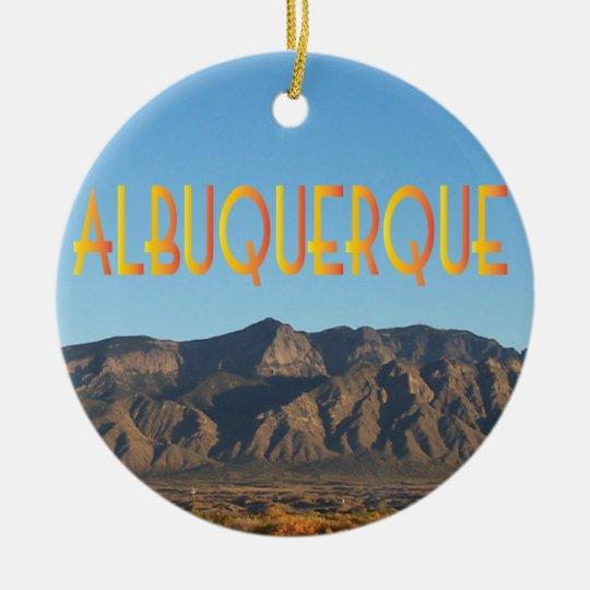 Albuquerque New Mexico Christmas Ornament
