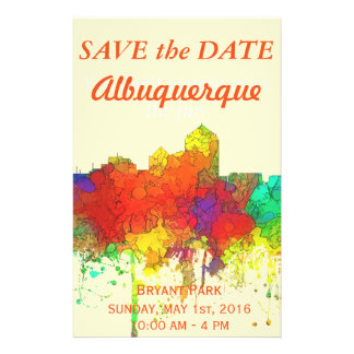 Albuquerque New Mexico Skyline-SG 14 Cm X 21.5 Cm Flyer