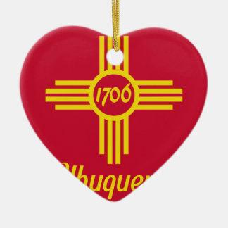 Albuquerque, New Mexico, United States flag Christmas Ornament