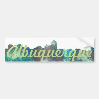 ALBUQUERQUE, NM SKYLINE-SG JUNGLE- Bumber Stickers Bumper Sticker