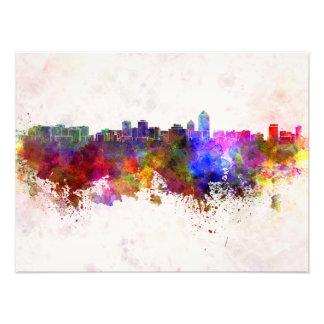 Albuquerque skyline in watercolor background