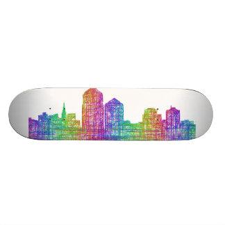 Albuquerque skyline skateboard decks