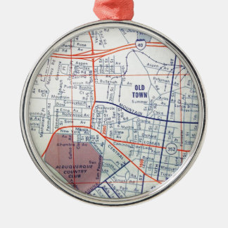 ALBUQUERQUE Vintage Map Christmas Tree Ornaments