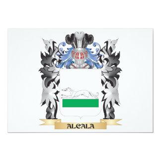 Alcala Coat of Arms - Family Crest 13 Cm X 18 Cm Invitation Card
