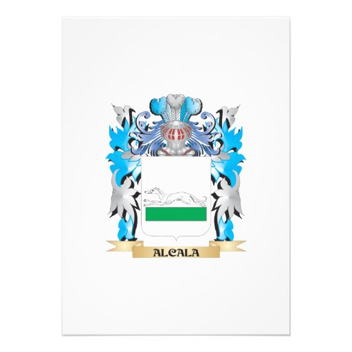 Alcala Coat Of Arms Personalized Invitations